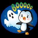 Pingüino Halloween - Asustado