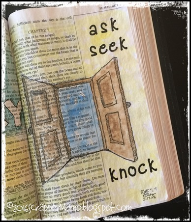 Bible Art Matt 7-7 Ask Seek Knock