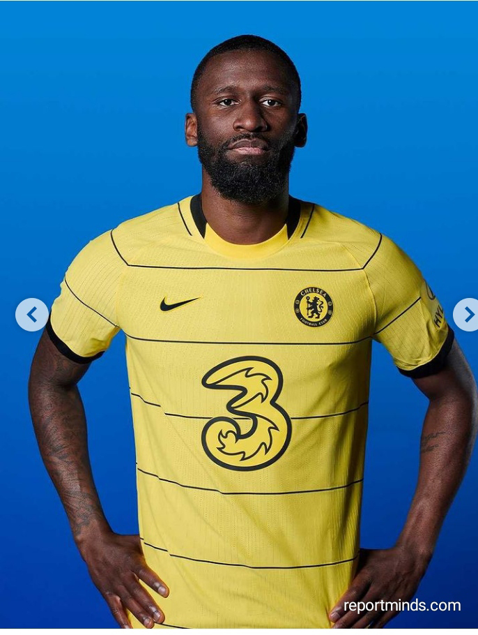 Mason Mount, Pulisic and Rudiger model Chelsea's new away 'yellow and black' kit for 2021-2022 season