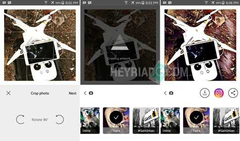 melalui smartphone Android sanggup Anda lakukan dengan trik gampang berikut ini Cara Edit Foto di Aplikasi Prisma Tanpa Crop