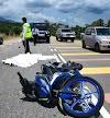 Anggota polis maut motosikal dilanggar bas