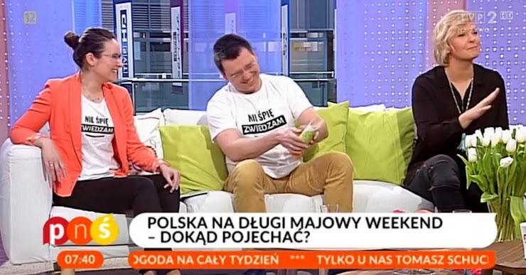Telewizyjne wywiady i programy o pomysłach na wycieczki po Polsce