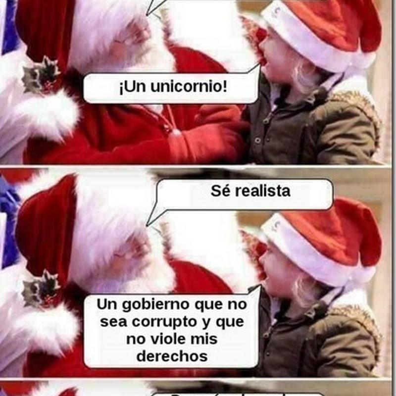 Humor Santa Claus y el regalo de Navidad
