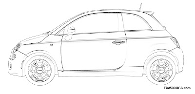 Fiat 500 Design Challenge side view