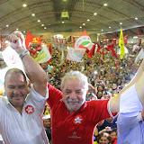 Lula na quadra dos bancários
