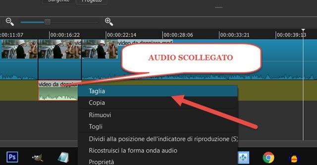eliminare-audio-scollegato