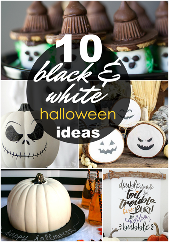 10 Black & White Halloween Ideas at GingerSnapCrafts.com #halloween #blackandwhite_thumb[1]