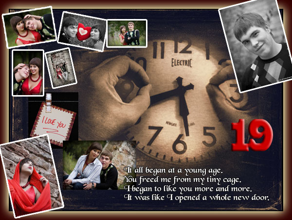 Couple Photo Collage For Boyfriend Girlfriend 19th Birthday Good Gift Ideas 16th