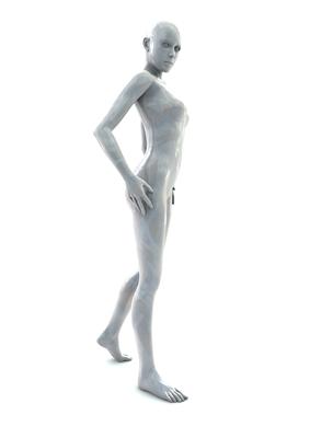 femme 3D pose artistique matiere nacre 3-01b