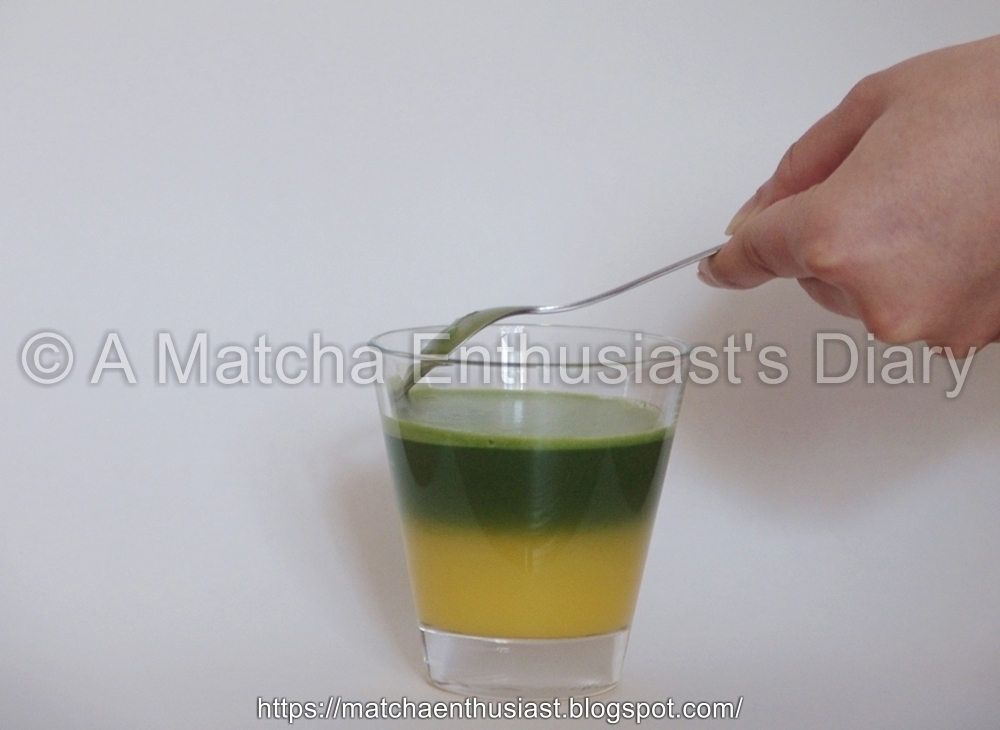 Matcha Recipe Matcha with Orange juice
