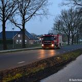 Brandweer nog een keer naar opgebrande tractor van stro bij Meinardi - Foto's Teunis Streunding