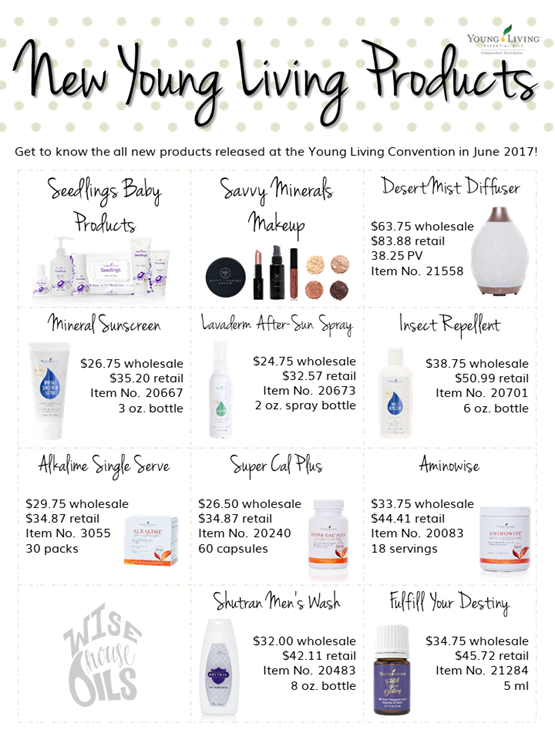 New Young Living Products 2017