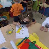 K1A en K1B spelen in de klas van juf Inge