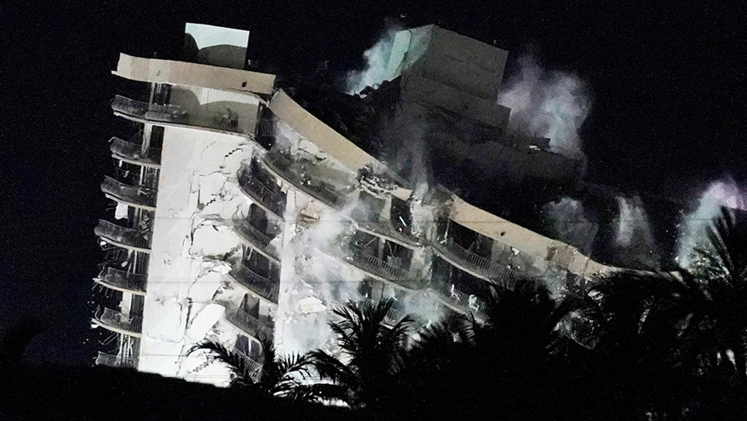 Miami building that caused 24 deaths with 121 people still missing, is brought down with explosives