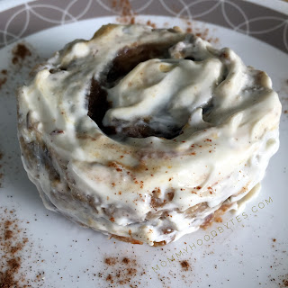 Skinny Cinnamon Roll Mug Cake with Cream Cheese Frosting