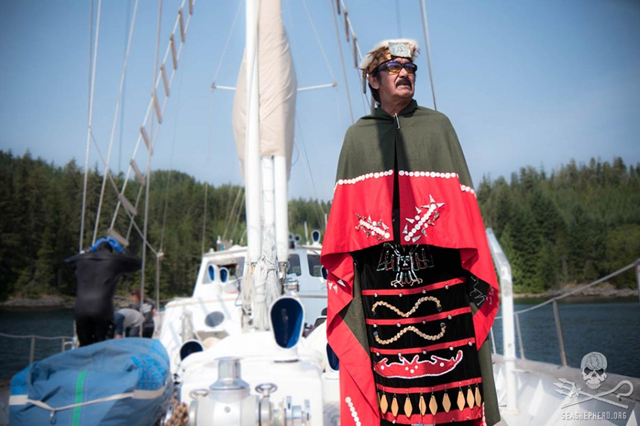Hereditary Chief George Quocksister of the Laichwiltach Nation. Photo: Sea Shepherd