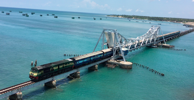 The enormity and beauty of Pamban Railway
