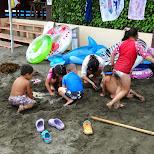 kids at enoshima beach in japan in Fujisawa, Kanagawa, Japan
