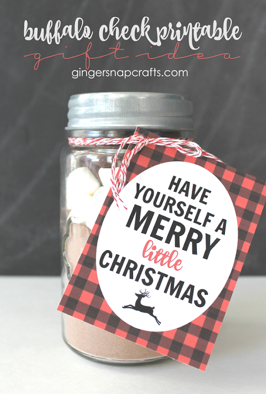 buffalo check printalbe gift idea at   GingerSnapCrafts.com