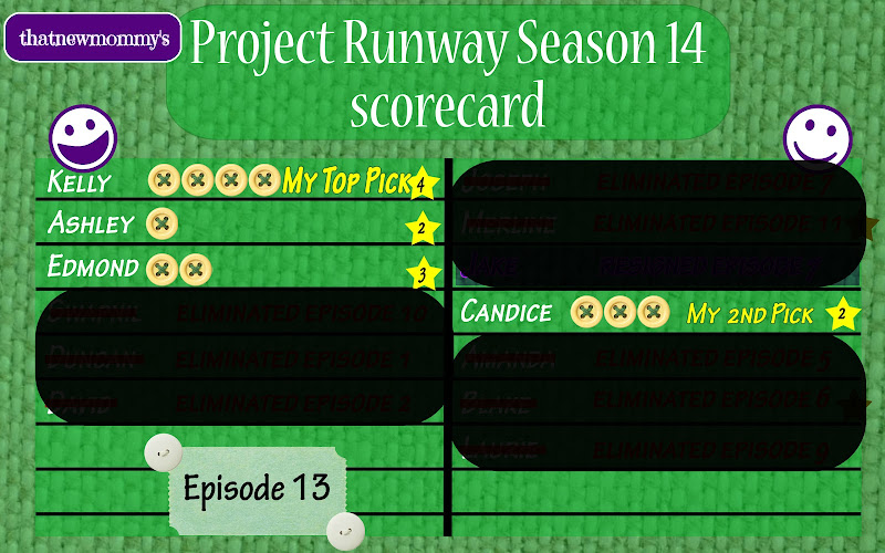 Fantasy Project Runway Season 14 Scorecard - Finale, Part 1 (14x13)