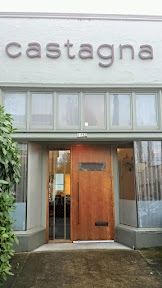 Front of Castagna, one of the top 3 restaurants in Portland