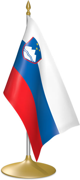 Slovenian table flags - desk flags