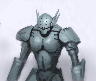 how to draw mecha robot