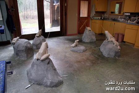 حديقة حيوانات من برونز فى منحوتات الفنانة Georgia Gerber