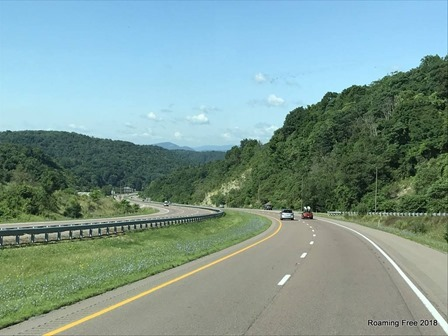 Driving through the Maryland mountains!