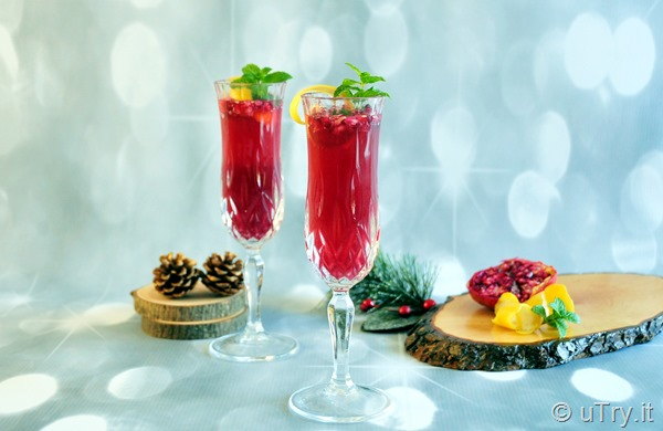 New Year's Eve Cocktail Recipe: Pomegranate Mimosa   http://uTry.it