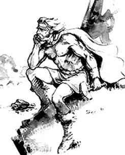 A Contemplative Thor, Asatru Gods And Heroes