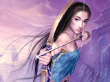 Girl Archer With Silver Arrows
