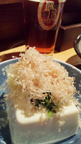 Baird Beer Break - the Hiyayakko or Chilled Tofu came with a lot of bonito
