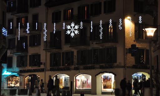 Chamonix during the winter holidays