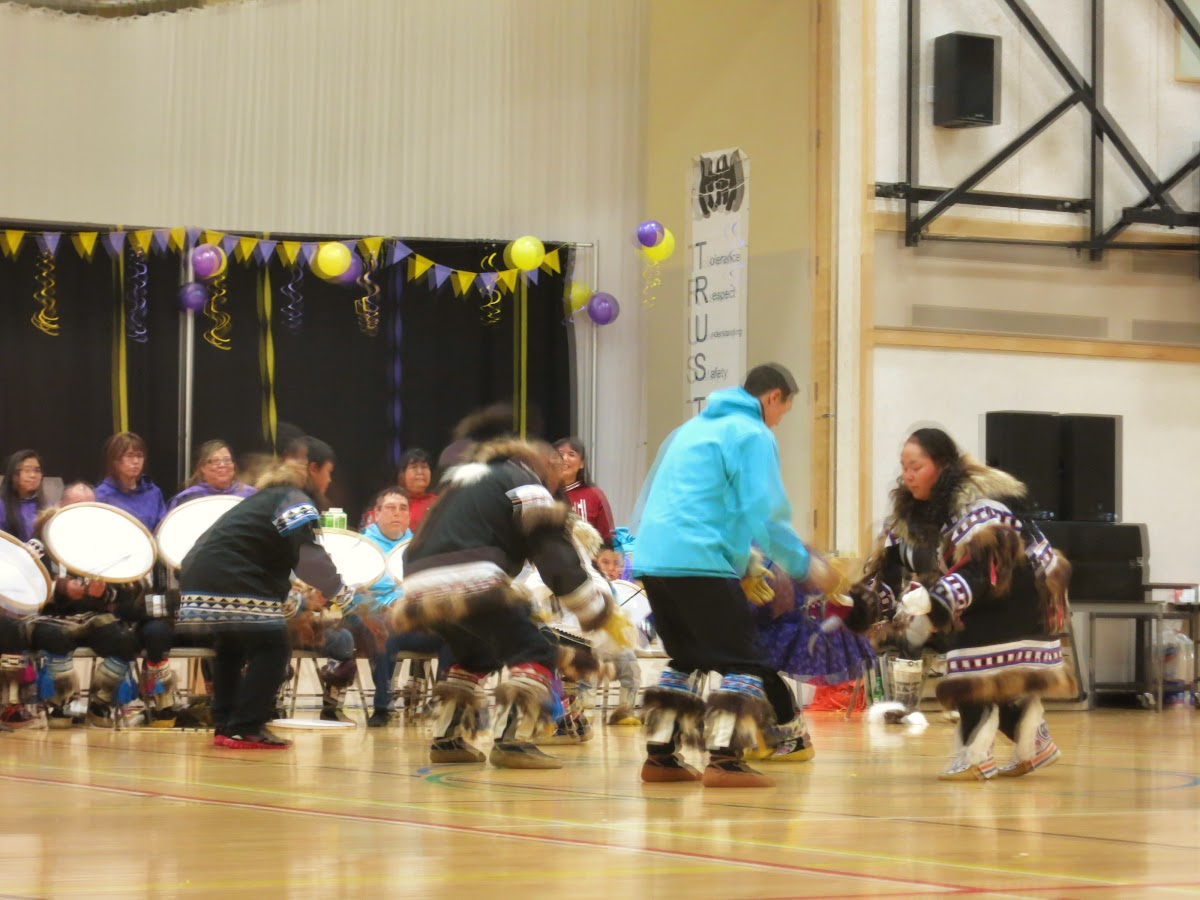 Group in traditional clothes dancing at the Jamboree