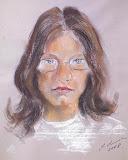 portret Michała, suche pastele, 30x45cm