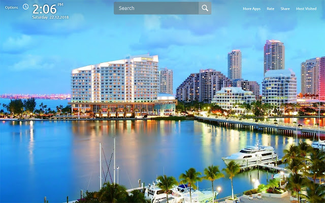 Miami Wallpapers Theme New Tab