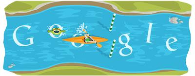 Google Doodle Kanuslalom