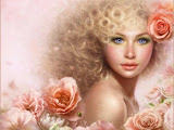 Blond Girl Of Roses