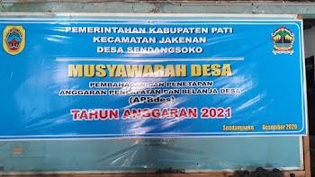 Musdes Pembahasan & Penetapan APBdes Tahun Anggaran 2021
