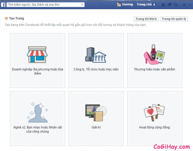 trang tạo fanpage facebook