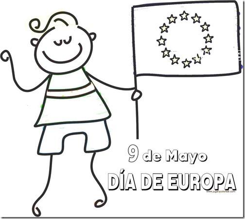 Colorear Dibujos 9 De Mayo Día De Europa