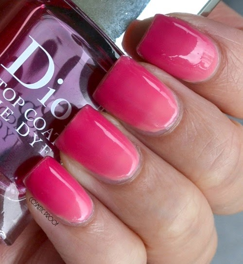 Dior Tie Dye Top Coat 869 Review Swatch Gradient Nail Art