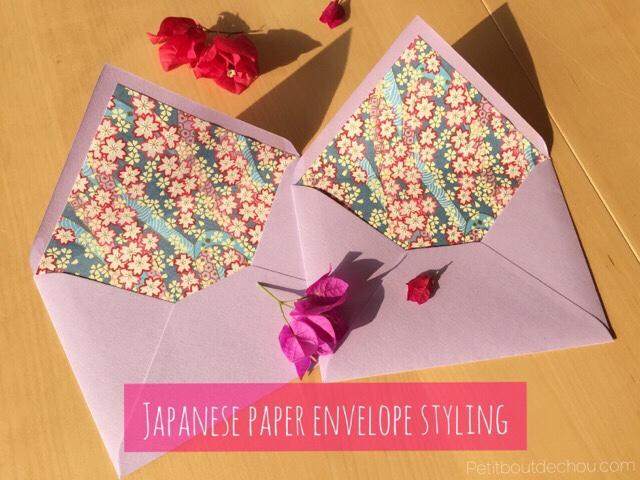 DIY japanese chiyogami paper envelope styling
