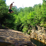 Clear the gap - cliffjumping in Maine