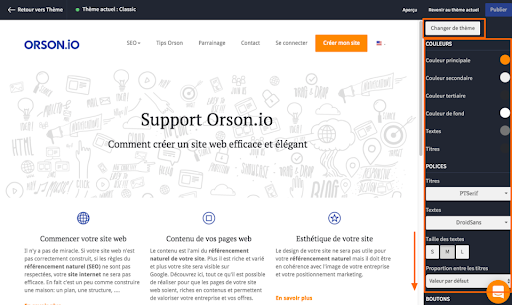 support-creation-de-site