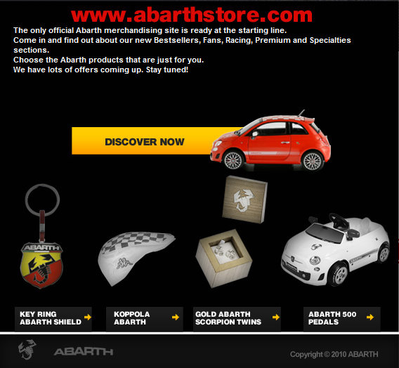 Abarth Store Online | Fiat 500 USA
