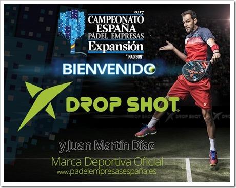 Drop Shot nueva marca oficial para el Campeonato de España de Empresas Expansión 2017.