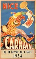 Carnaval de Nice affiche 1954