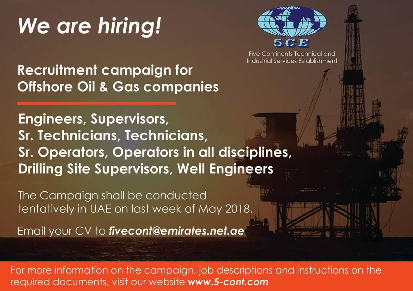 Oil and Gas Jobs: Technicians/Supervisors/Engineers Electrical